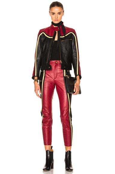 Leather & Nubuck Biker Jacket