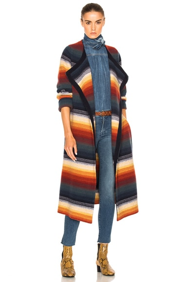 Chloe Felted Degrade Stripe Jacket in Multi