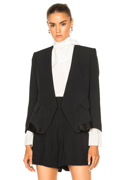 Chloe Crepe Sable Blazer in Black