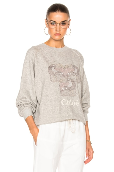 Chloe Sweatshirt in Pearl Gray