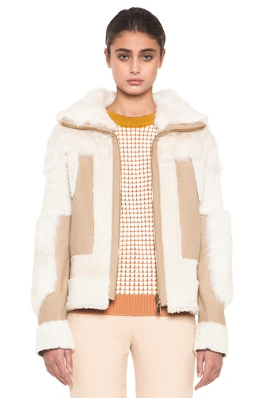 Reversible Shearling Patchwork Jacket