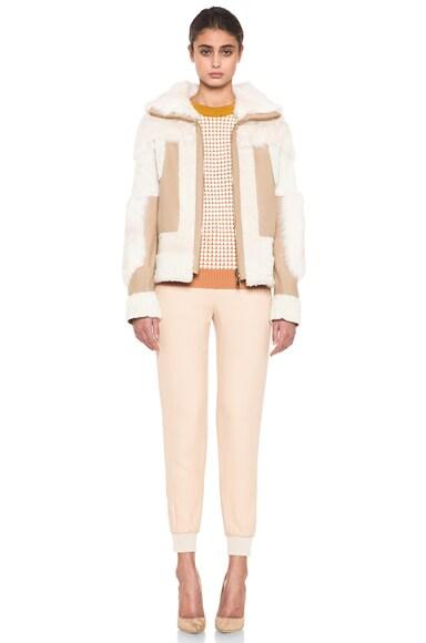 Reversible Shearling Patchwork Jacket