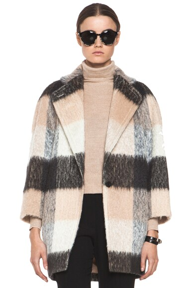 Check Mohair Coat