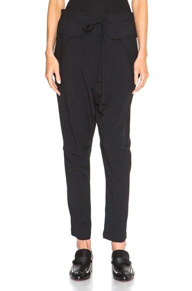 Chloe Light Cady Trousers in Black