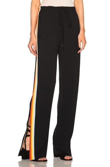 Chloe Light Cady Trousers in Black & Rainbow