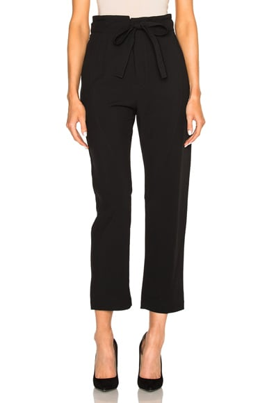 Chloe Light Cady Trousers in Black