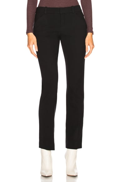 Diagonal Wool Trousers
