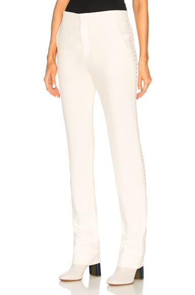 Light Cady Crystal Embellished Trousers