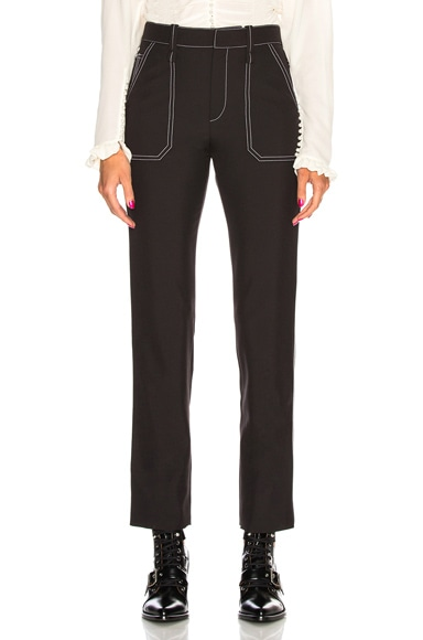 Contrast Stitching Trousers