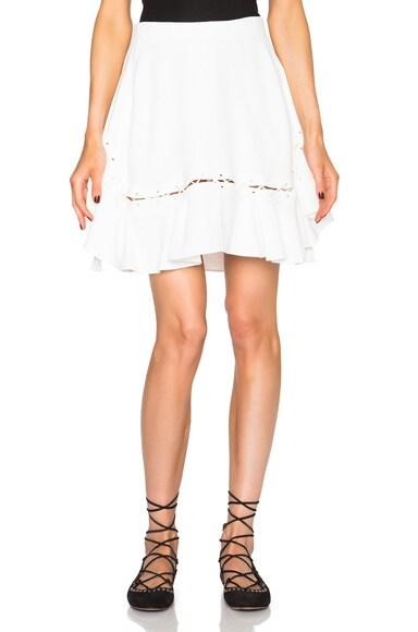 Chloe Crepe Sable Skirt in Milk