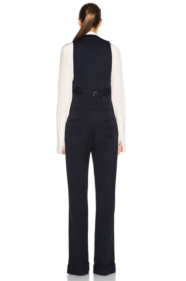 Wool Twill Tailoring Jumpsuit