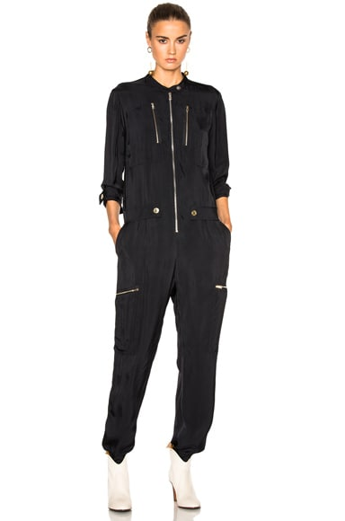 Chloe Fluide Twill Jumpsuit in Navy