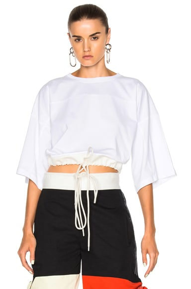 Chloe Jersey Crop Top in White