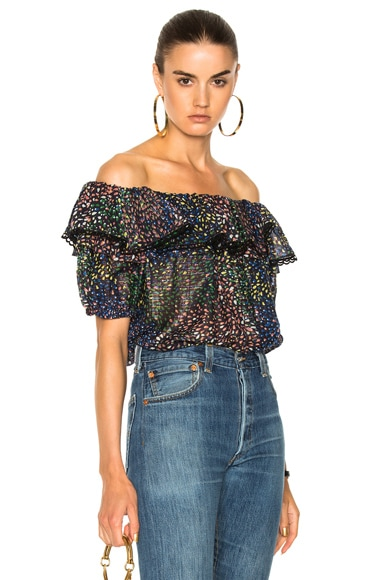 Firework Lurex Crepon Blouse