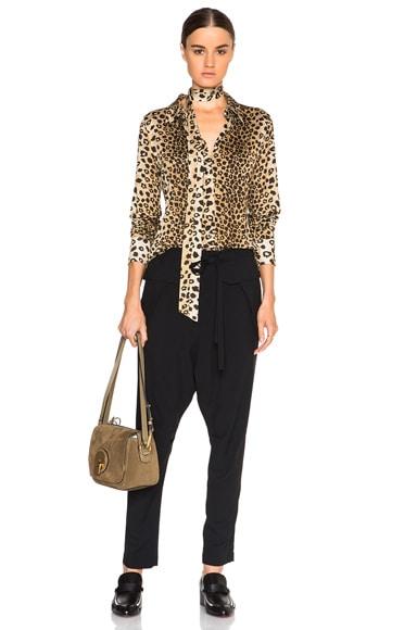 Leopard Print Jersey Blouse