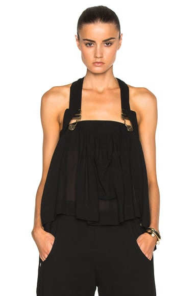 Chloe Overall Top in Black