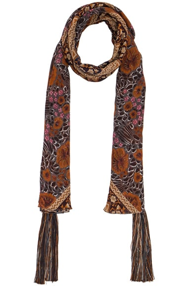 Chloe Foulard Scarf in Orange & Multi