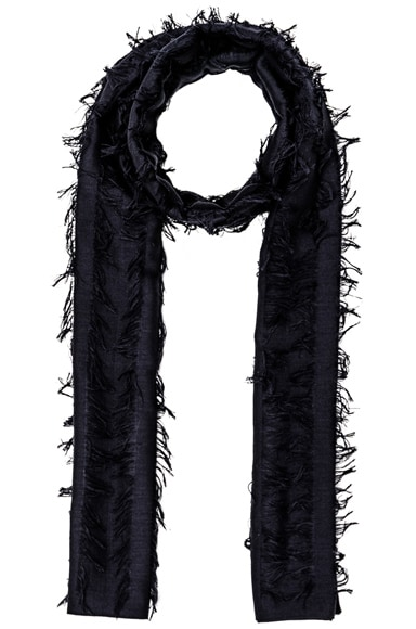 Chloe Fil Coupe Stripe Scarf in Navy