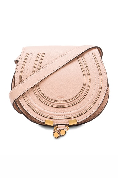 Chloe Small Marcie Saddle Bag in Blush Nude