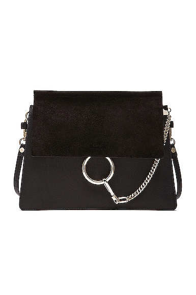 Chloe Medium Faye Bag in Black