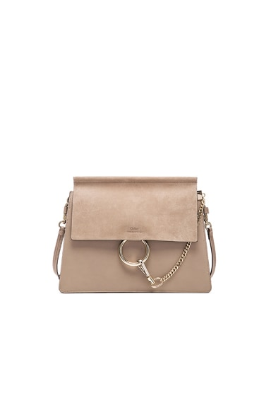 Chloe Medium Faye Bag in Motty Grey