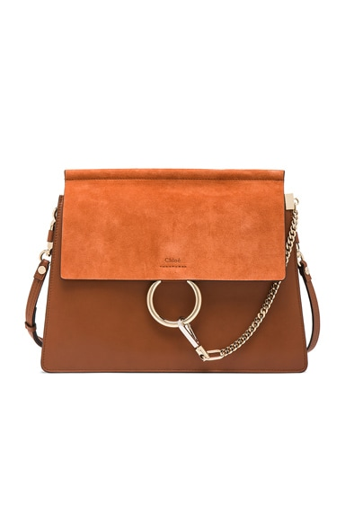 Chloe Medium Faye Bag in Tobacco