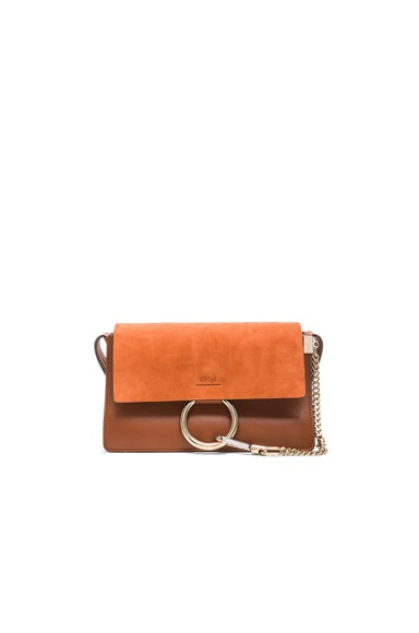Chloe Small Faye Bag in Tobacco