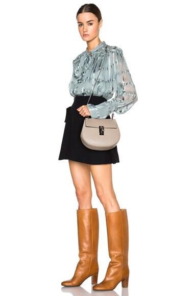 Small Drew Grain Leather & Calfskin Bag