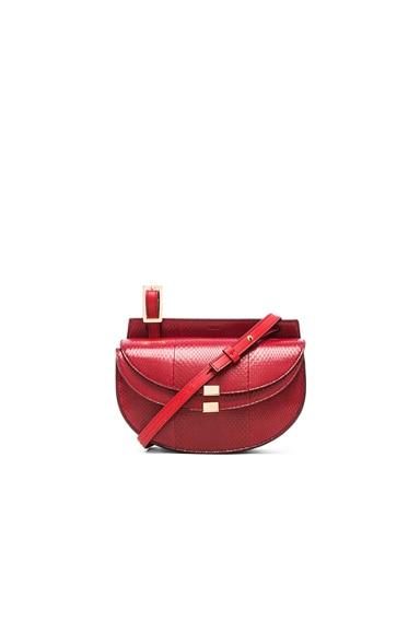 Chloe Mini Georgia Ayers Bag in Dusky Red