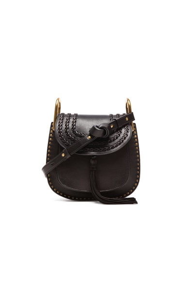 Chloe Small Hudson Braided Leather Bag in Black