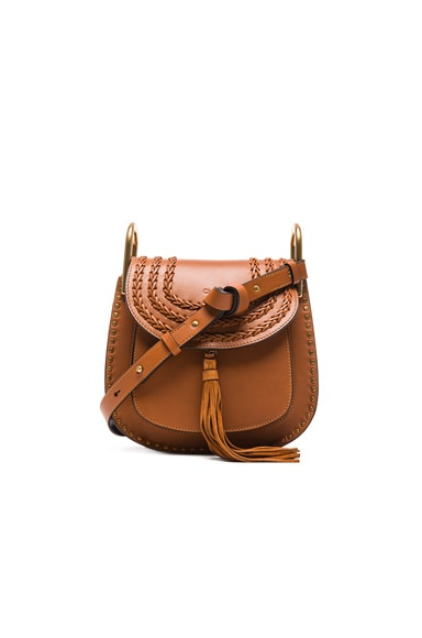 Chloe Small Hudson Braided Leather Bag in Caramel