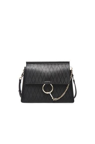 Chloe Medium Diamond Embossed Faye Bag in Black