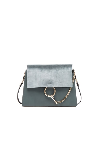Chloe Medium Faye Bag in Cloudy Blue