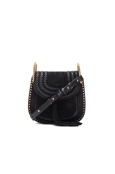 Chloe Small Suede Hudson Bag in Black