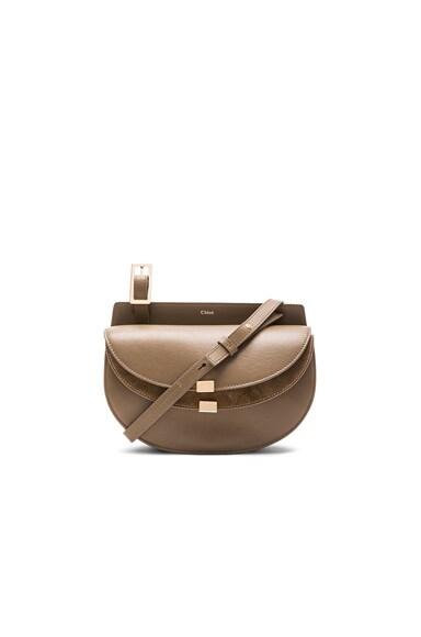 Chloe Mini Calfskin & Suede Georgia Bag in Merino Grey