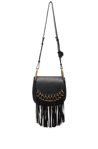 Chloe Small Hudson Fringe Bag in Black