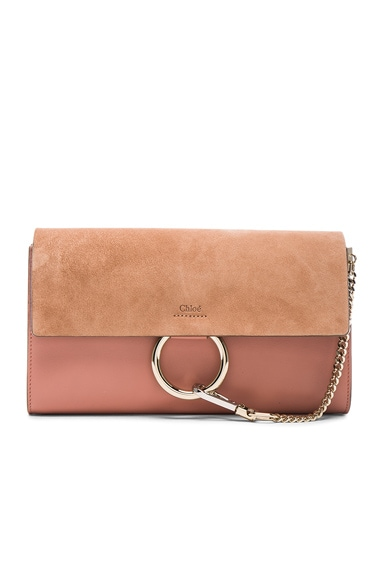 Chloe Faye Clutch in Misty Rose