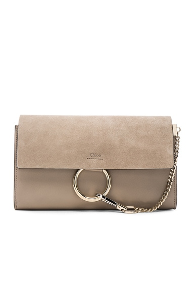 Chloe Faye Clutch in Motty Grey