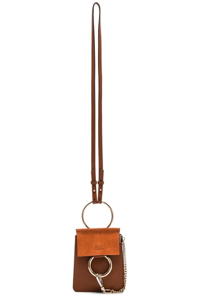 Chloe Faye Mini Bracelet Bag in Classic Tobacco