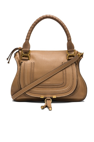 Small Marcie Grained Leather Satchel Chloe