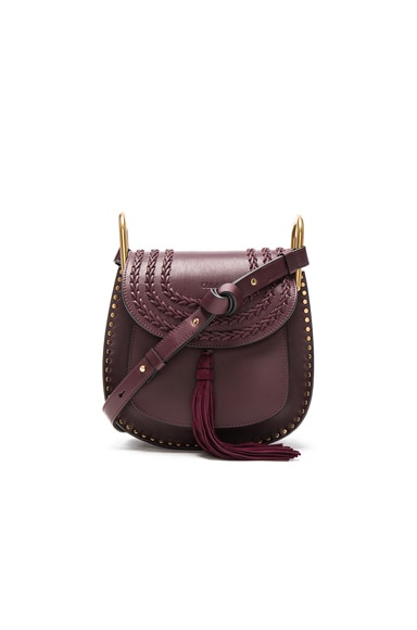 Chloe Small Leather Hudson Bag in Dark Purple