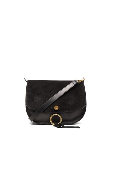 Chloe Medium Suede Kurtis Bag in Black