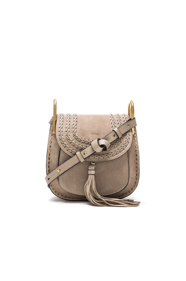Chloe Small Suede Hudson Bag in Motty Grey
