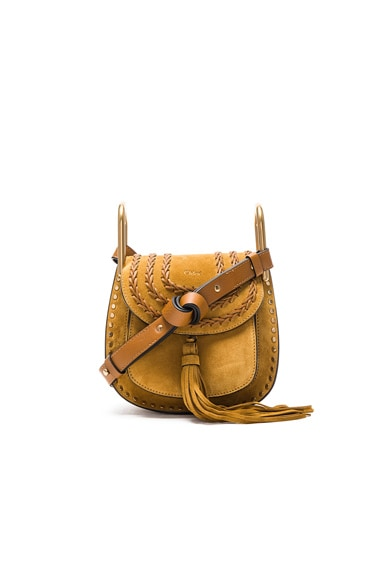 Chloe Mini Suede Hudson in Mustard Brown