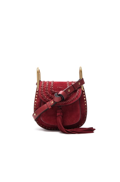 Chloe Mini Suede Hudson in Sienna Red