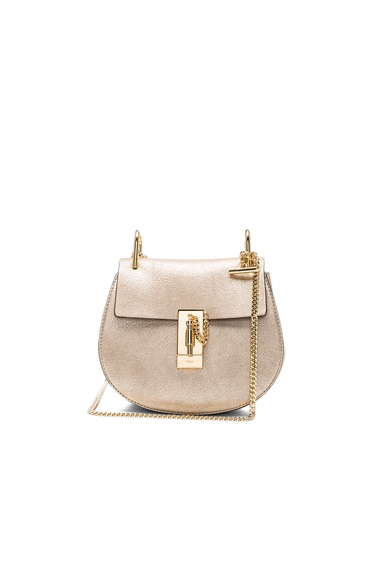 Chloe Mini Laminate Drew Bag in Abstract Gold