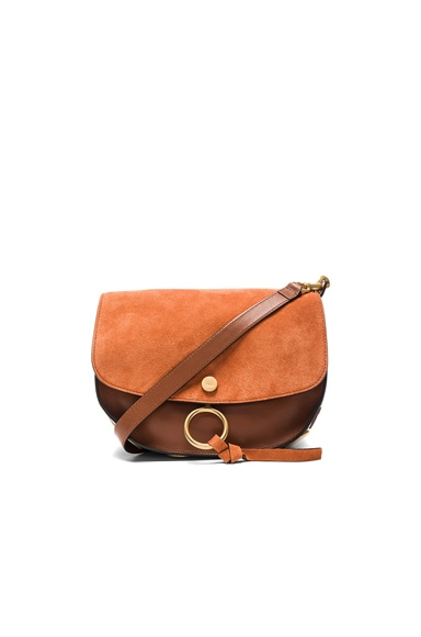 Chloe Medium Suede Kurtis Bag in Classic Tobacco