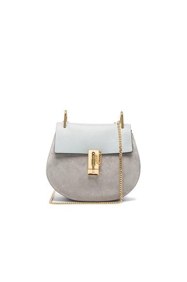 Chloe Small Suede Drew Bag in Fresh Blue