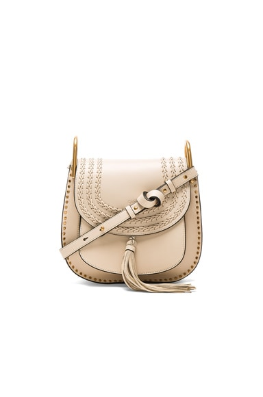 Chloe Medium Braided Leather Hudson Bag in Abstract White