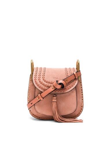 Chloe Small Suede Hudson Bag in Sheer Pink